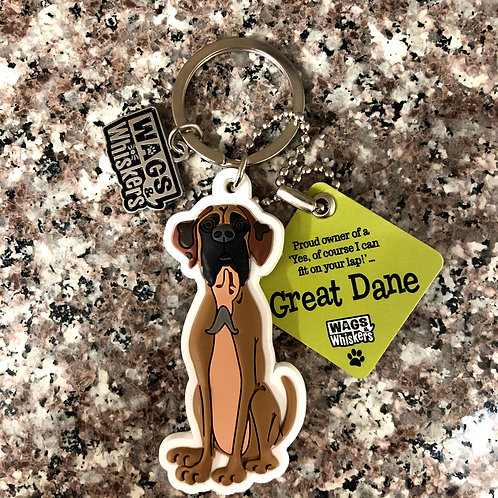 Great Dane Keychain