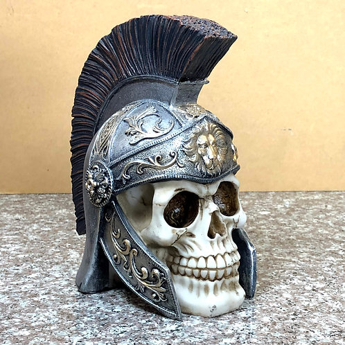 Skull with Knight Helmet (Lion)
