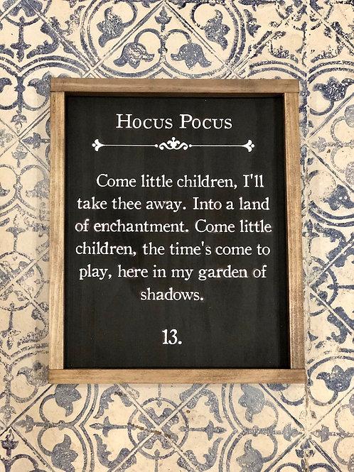 Hocus Pocus - Hand Painted Sign