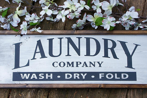 Laundry Company - Hand Painted Sign