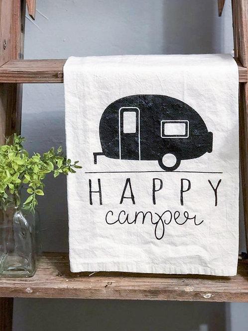 Happy Camper - Hand Painted Towel