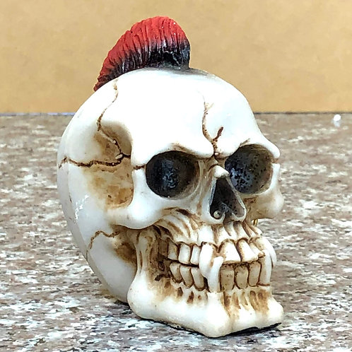 Skull with Red Mohawk and Earring
