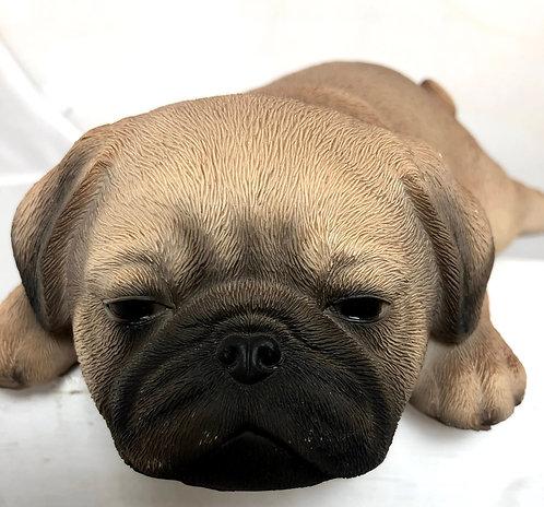 Sleeping Pug Statue