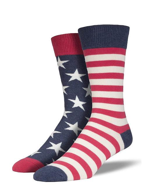 Stars and Stripes American Flag Socks