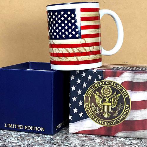 We The People American Flag Mug