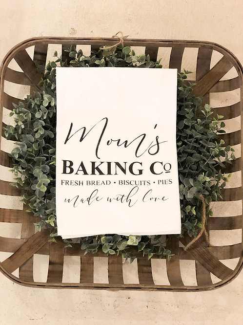 Mom's Baking Co. - Hand Painted Towel
