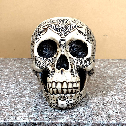 Skull with Beetle Tribal Design