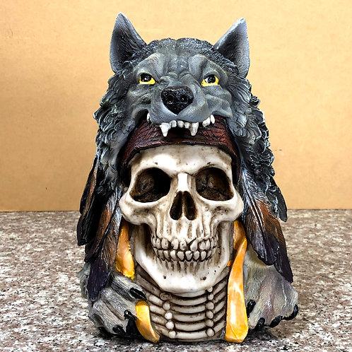 Skull Wearing Wolf Pelt