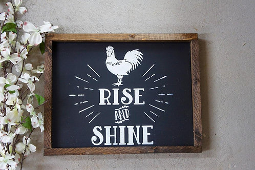 Rise & Shine - Hand Painted Sign