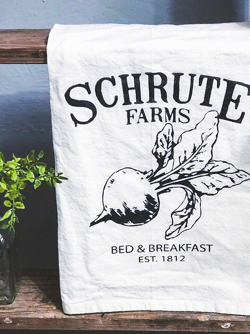 Schrute Farms (The Office) - Hand Painted Towel