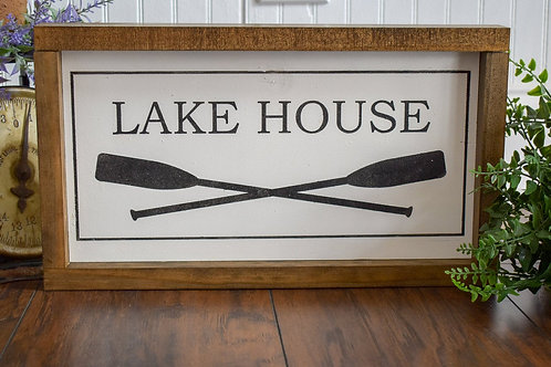 Lake House - Hand Painted Sign