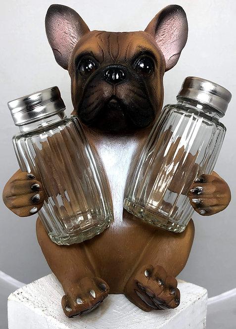 French Bulldog (Frenchie) Salt and Pepper Holder