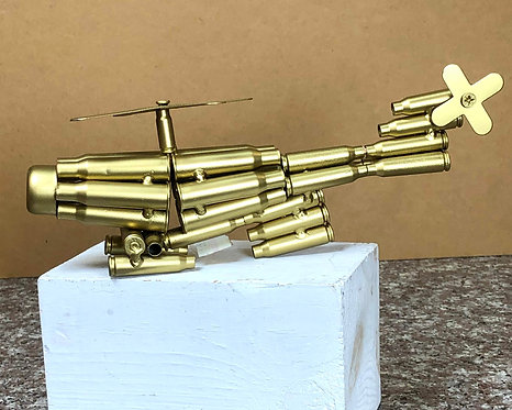 Replica Helicopter made from Bullet Shells