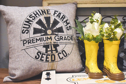 Sunshine Farms Seed Co. - Hand Painted Decorative P