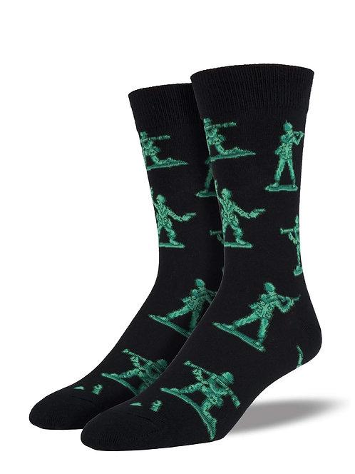 Green Army Men Socks