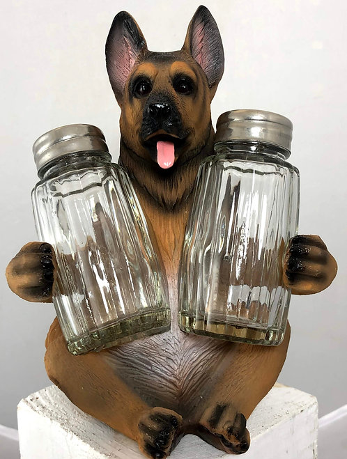 German Shepard Salt and Pepper Holder