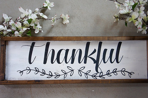 Thankful - Hand Painted Sign