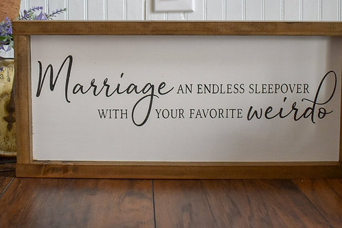 Marriage Sleepover - Hand Painted Sign