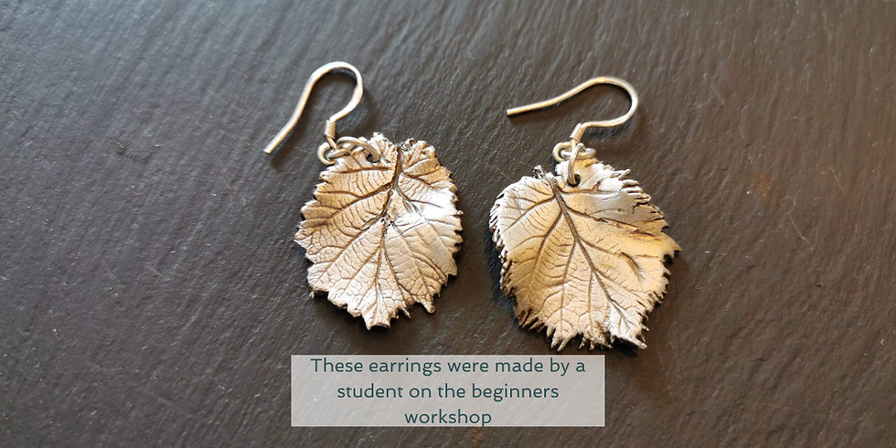 Southampton - Beginners nature inspired silver jewellery workshop using silver clay (£95)