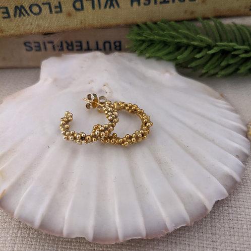 Sea Bubble Hoop Earrings - Gold