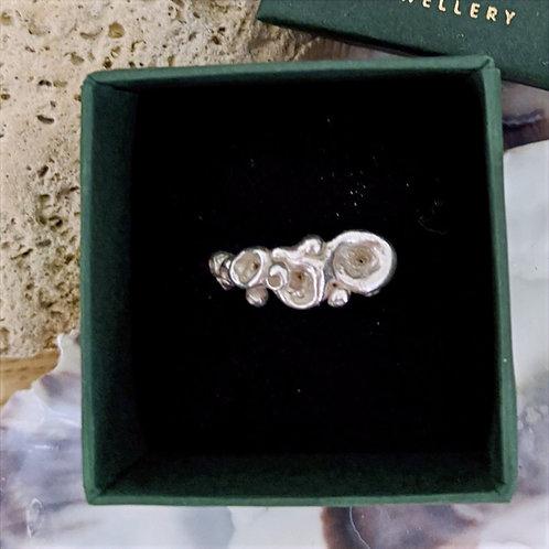 Sea Anemone Ring - Silver