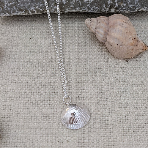 Cockle Shell Necklace - Silver