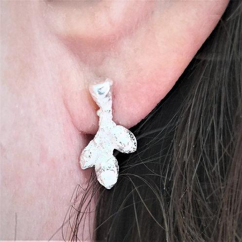 Tiny Buds Stud Earrings - Silver