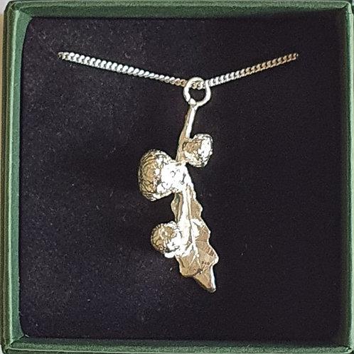Acorn Bud Necklace - Silver