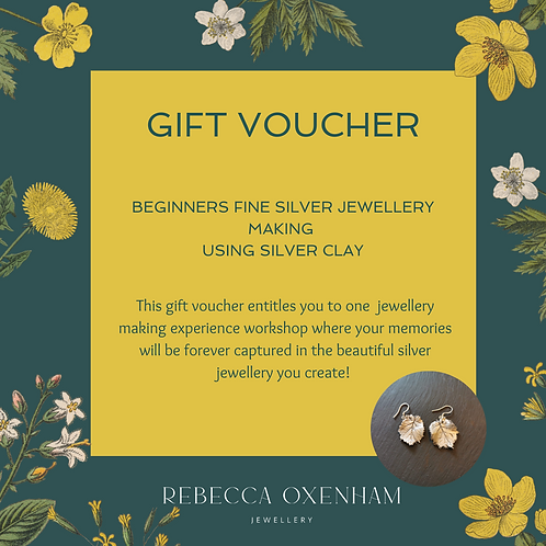Gift Voucher - Beginners Silver Clay Workshop Experience