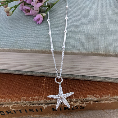 Starfish Necklace (Small) on a satellite chain