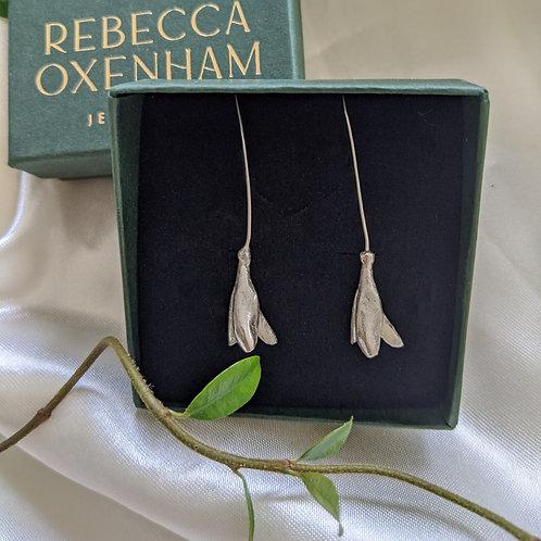 Snowdrop Earrings - Silver