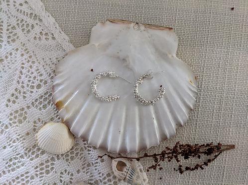 Sea Bubble Hoop Earrings - Silver
