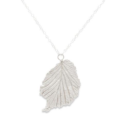 Hazel leaf pendant