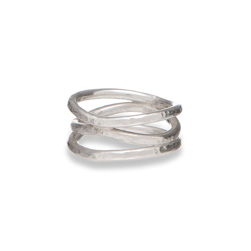 Sea Wave Ring - Silver