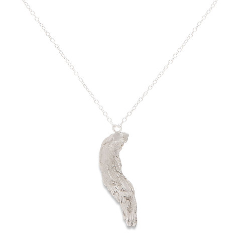 Angel wing tree bark necklace