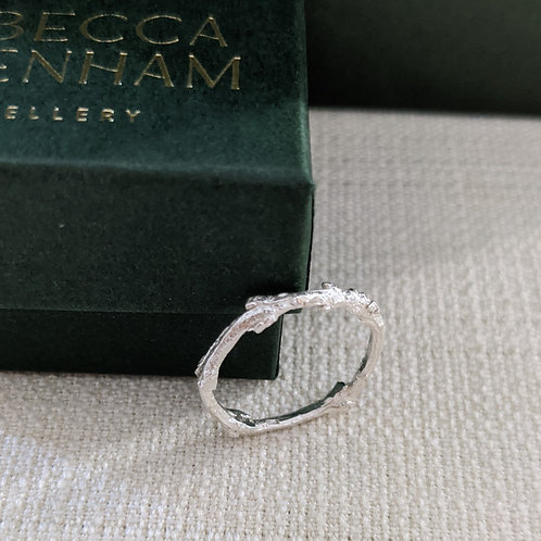 Willow Twig Ring - Silver