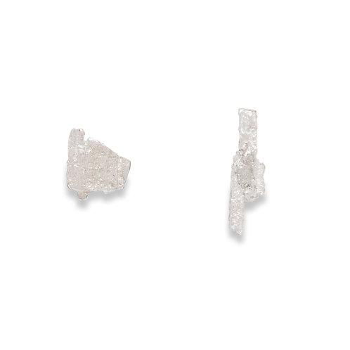 Mismatched Tree Bark Earrings
