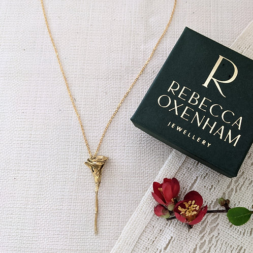 Single Rose Necklace - Gold Plated