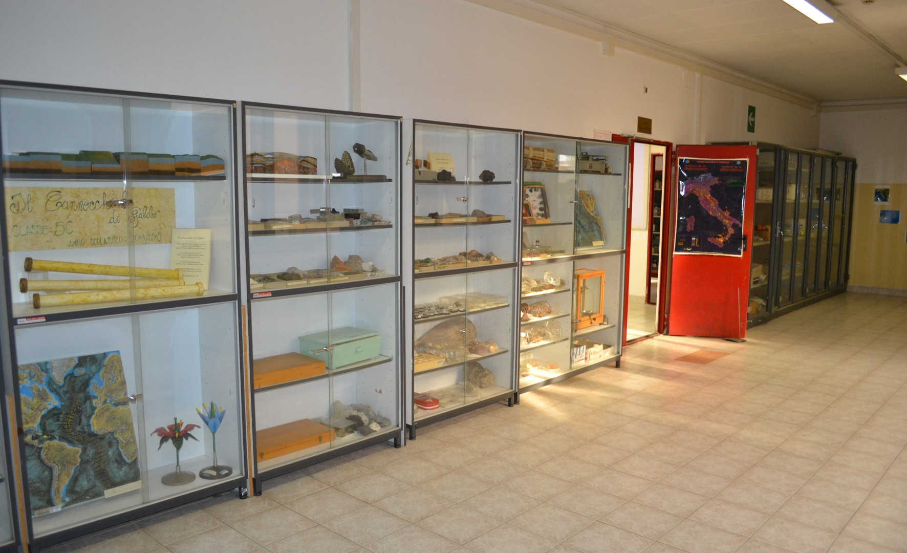 Laboratorio scienze vetrine