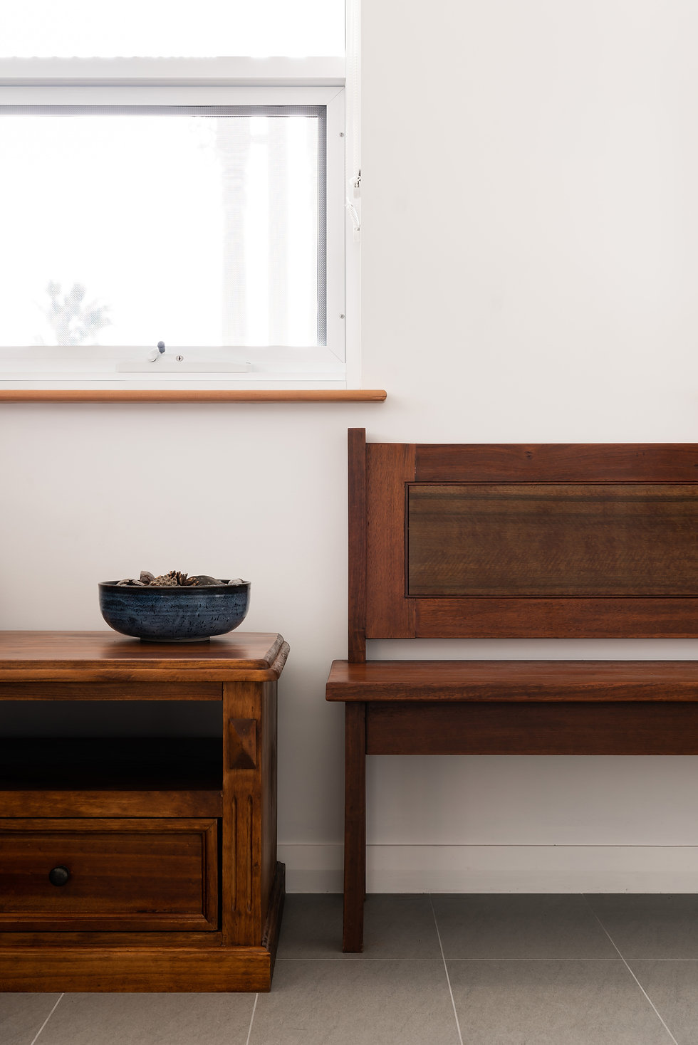 Bunbury Anglican Diocesan Office Building – Church pew recycled for seating and window sills
