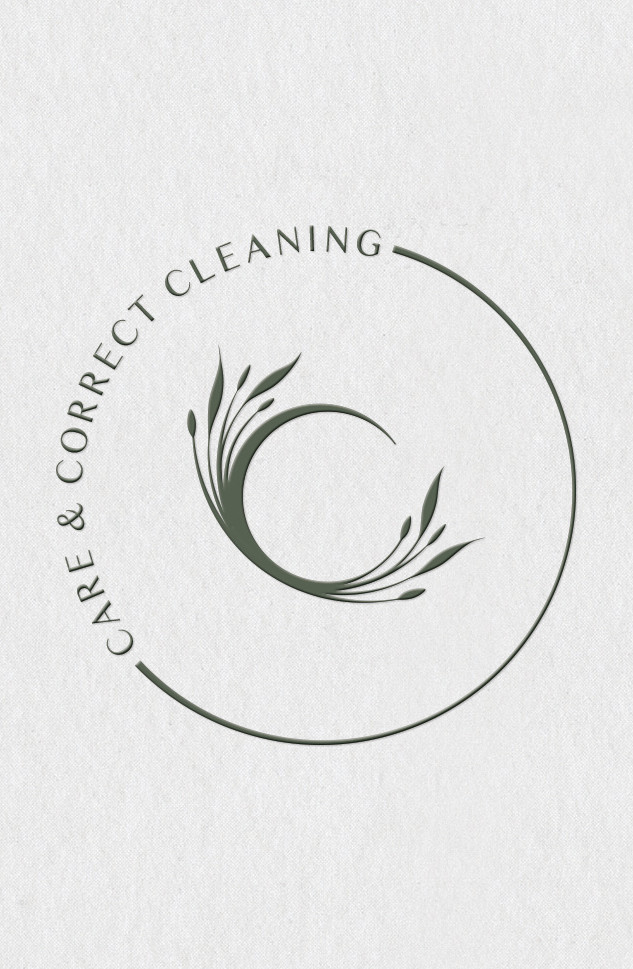 CARE & CORRECT CLEANING BRANDING LOGO