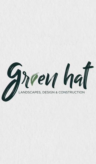 GREEN HAT, LANDSCAPING, BRANDING, LOGO DESIGN