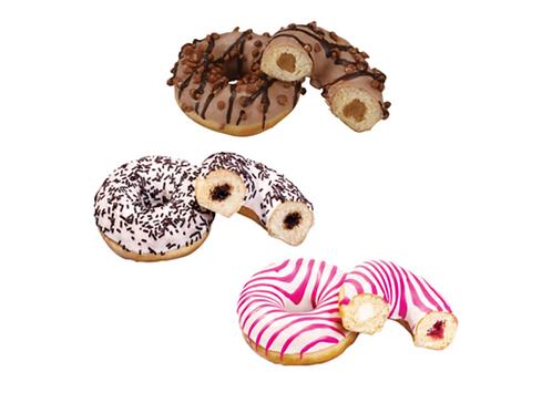 3 gefüllte Donuts