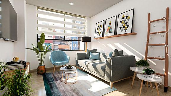 render sala de urban 73 apartamentos