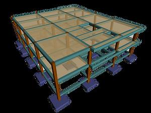 estructura en concreto modelada en cipe proyecto icbf zipaquira diseñada por kriba ingenieros
