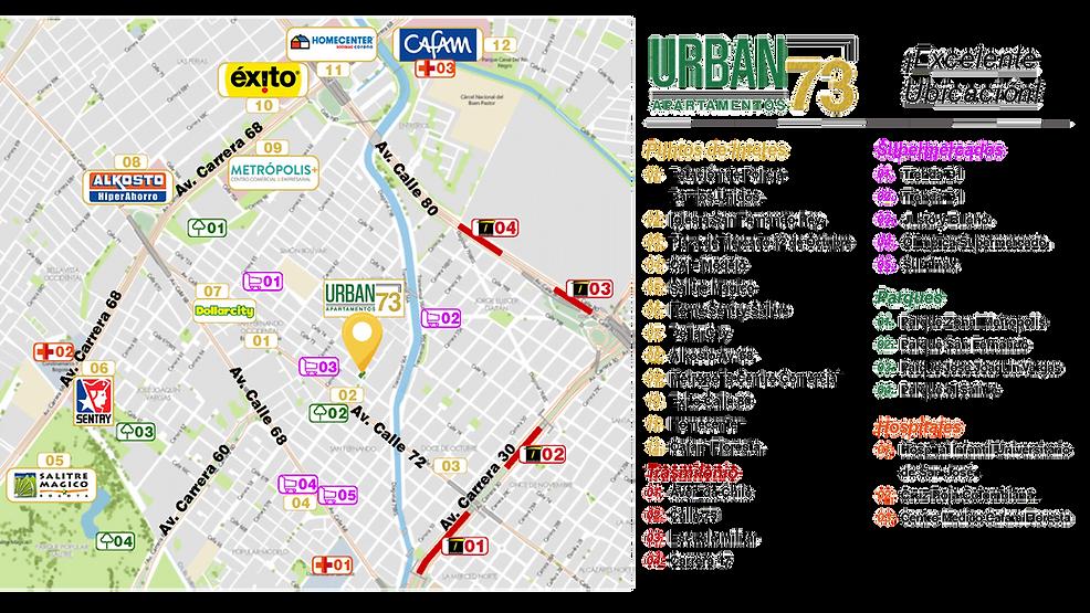 ubicación urban 73 apartamentos en san fernando