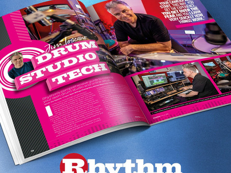 Check out my Rhythm Magazine feature on drum studio technology issue no. 298!