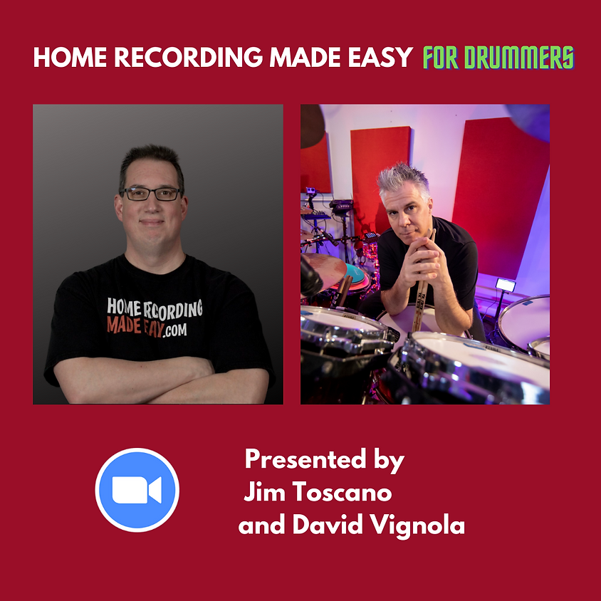 Home Recording For Drummers Made Easy!