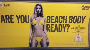 """Publicidade com """"corpos inatingíveis"""" passa a ser proibida no transporte de Londres"""