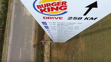 McDonald's dá coordenadas para chegar ao BK mais próximo!